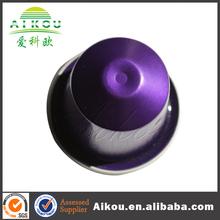 2014 high quality safe nespresso aluminum foil capsule with foil lid