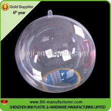 Beautiful openable christmas transparent plastic ball