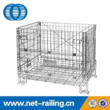 Stackable steel storage galvanized welded wire mesh cage