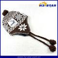Hzm-13311invierno jacquard mejor vendiendo barato peruana chullos gorro de lana deinvierno de los hombres