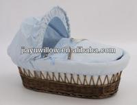 Natural wicker bassinet baby sleeping bed