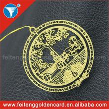 Custom brand logo engraved metal christmas decoration ornament for gift