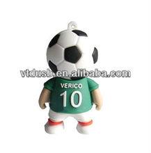 Usb flash drives-2014 football man for world cup soccer sports man promotional Mascot Fuleco USB Pen Drive Brazil World Cup keys