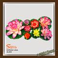 Moda flotante artificial flor de loto/falso decorativo del lirio de agua/artificial de hibisco
