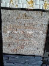 Yellow Slate Culture Stone Veneer Panel Wall Cladding,Natural decorative stone