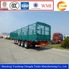 China tri-axle cargo fence truck trailers