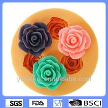 3 rose flower shaped silicone chocolate molds, soap molds,ke decoration/moldes de chocolate