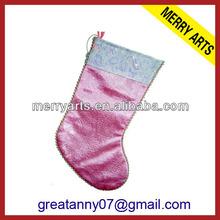 wedding decoration plain christmas stockings pink christmas stocking holder sale