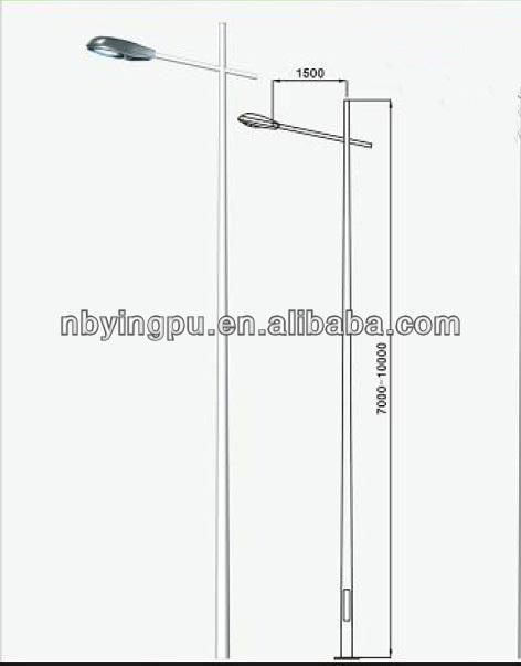 Light Poles Drawing 12m Street Lighting Pole