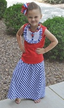 2014Hot Sale!Baby Girls Cotton Lovely Chevron Skirts Zig Zag Long Maxi Stripes Skirts For Girls Party Wear Dress Baby Wear Cloth