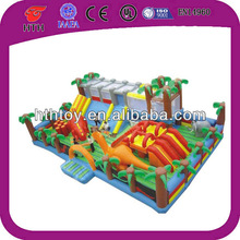 HTH giant dinasour world inflatable jumping castles for amusement park