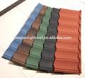 Elegante diseño de chip de color de revestimiento de metal de hoja del azulejo, piedra recubierta de metal teja máquina, de canalones del techo de la fábrica