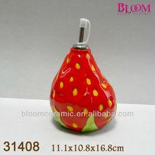 Fruta pintura de la mano de vinagre botella decorativa