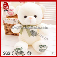 High quality birthday valentine's day gifts stuffed white bear toys wholesale plush teddy bear for valentines
