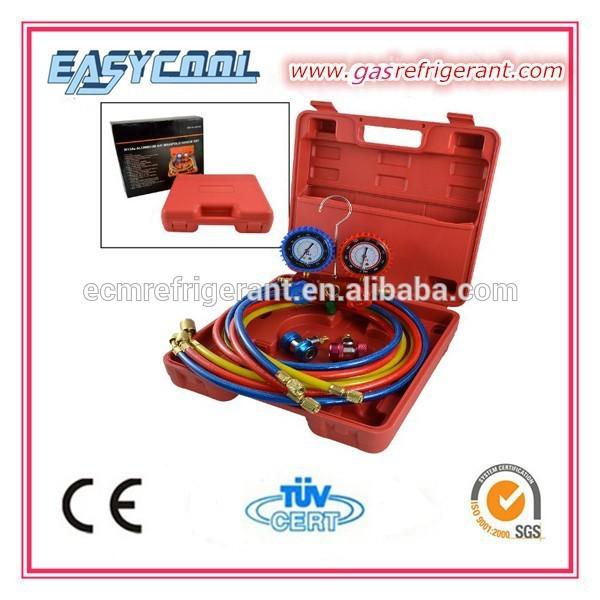 alüminyum AC soğutma manifold gösterge seti R134a r12 R410A R404A klima manifold gösterge