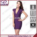 Sexy con cremallera frontal mini vestido, los diferentes tipos de vestidos, vestido de púrpura