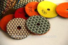 Little Ant Supply Premium Quality 4'' Set of 8 piece Diamond Dry Polishing Pads/Hand Grinder Polishing Disk