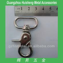 Luxury Metal Bag Accessories Fashion Metal Snap Hook Metal Key Ring Snap Hook Fashion Swival Snap Hook