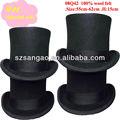 Sombrero negro de fieltro de 15 cm