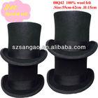 15cm black felt top hat