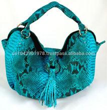Genuine Exotic Leather Python Snake Skin Women Designer New Hobo Tote Fashion Stylish Shoulder Bag Handbag