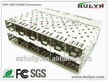 SFP CAGE 2X6 With light sfp cage connector