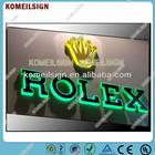 backlit + edge-lit alphabet letter for rolex china wholesale