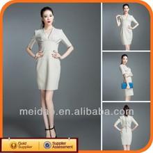2014 Fashion Women Korean White Cotton Sexy Club Lady Dresses