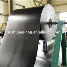 Large capacity long distance transport moulded edge conveyor belt