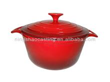 cast iron round enamel casserole pot