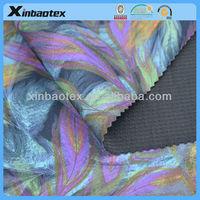 100%poly Printed Knitting Fabric+ TPU Film+Waffle fabric
