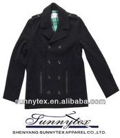2015 sunnytex fashion branded apparel WOOL COAT