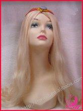 Long Gold Hair Wigs High Temperature Fiber, Can Wash,Curl,Iron