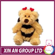 Peluche giocattoli ape/giocattolo farcito ape/ape gialla con il vestito e ala