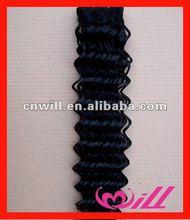 Soft,Tangle Free,No Sheding Deep Wave Jet Black Brazilian Hair 100% Human Remy Hair Brazilian Hair Weft
