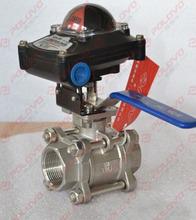 3pc thread ball valve mechanical valve position feedback limit switch box