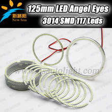 125mm smd ring angel eyes waterproof 125mm ring 117 SMD 3014 led angel eyes for cars motorcycles