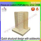 wood 4 sides decorative phone case display holder