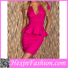 Wholesale Lovely Pink Office Lady Sexy Dress