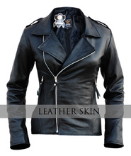 NWT Black Brando Men Women Unisex Genuine Leather Jacket - 100% Genuine Leather