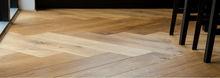 Solid ash parquet flooring (tongue & groove).W: 70mm , L:250-400mm.