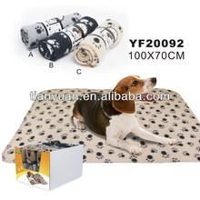 Dog Bed Pet Cushion Mat Soft Paws printed Pet Blanket