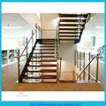 En forme de u broadstep limon. double escalier en bois de bande de roulement en acier au carbone'beam/limon. escalier