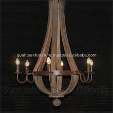 Shabby Chic Chandeliers Wine Barrel 6 Lamps