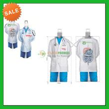 Custom Printed Doctor shape foldable water bottle 25oz