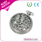 pocket watch necklace alloy hollow two birds pocket watch chain