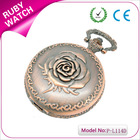wedding gift best selling valentines gifts antique bronze rose pocket watch chain