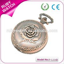 wedding gift best selling valentines gifts antique bronze rose pocket watch chain