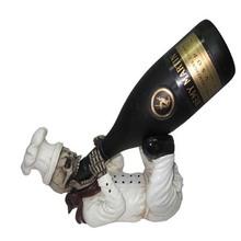 2014 New Design Wholesale Resin Custom Skull Wine Bottle Holder