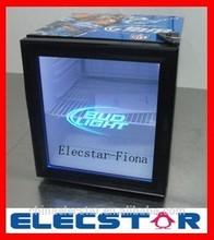 countertop cooler, Energy drink glass door Mini cooler, LED light glass door cooler